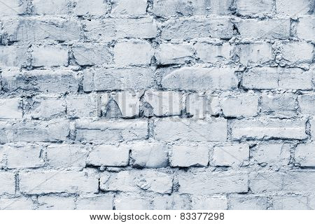 Old Brick Facade Of Silvery Color
