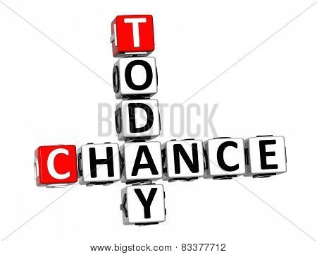 3D Crossword Chance Today On White Background