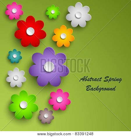 Spring Colorful Floral Abstract Background