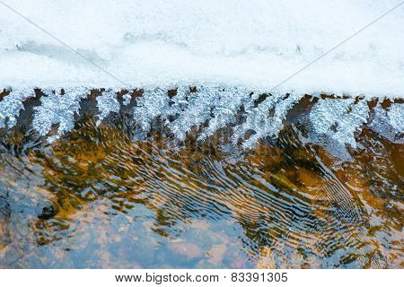 Abstract Frozen Ice Textures In The River