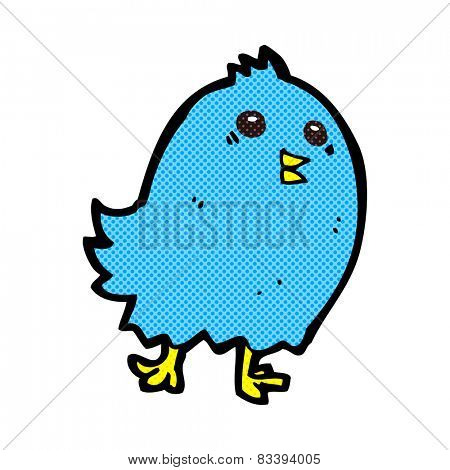 retro comic book style cartoon bluebird