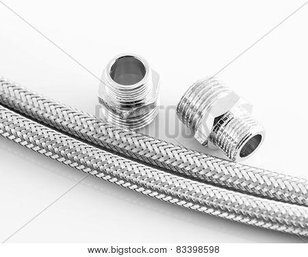 Elastic Metal Fiber Water Pipe With Connectors