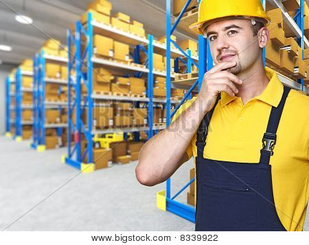Caucasian Manual Worker Portrait