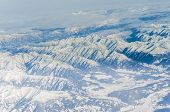 pic of italian alps  - view of the italian alps from an airplane - JPG