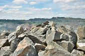 foto of mine  - Iron ore opencast mining  - JPG
