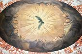 foto of mural  - Mural on a ceiling in the Karlskirche temple in Vienna Austria
