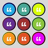 foto of quotation mark  - Quote sign icon - JPG