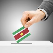 foto of suriname  - Voting concept  - JPG