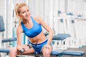 image of dumbbell  - Exercising with dumbbells - JPG