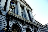 stock photo of city hall  - The City Hall of San Francisco California opened in 1915 - JPG