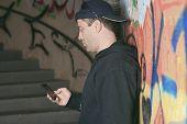 pic of drug dealer  - Drug dealer in a tunnel - JPG