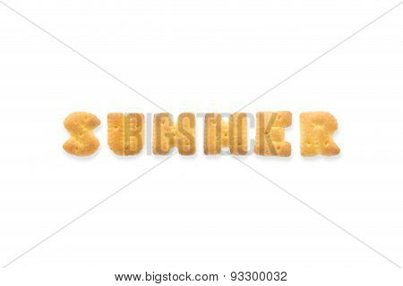 The Letter Word Summer Alphabet  Cookie Crackers