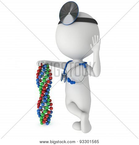 Doctor With Dna Chain