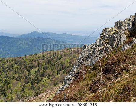 Cliff Edge Overlooking Hills