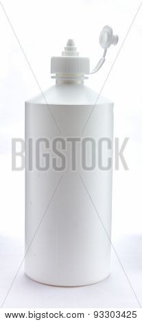 Whit Bottle On White Background For Decorate Project.