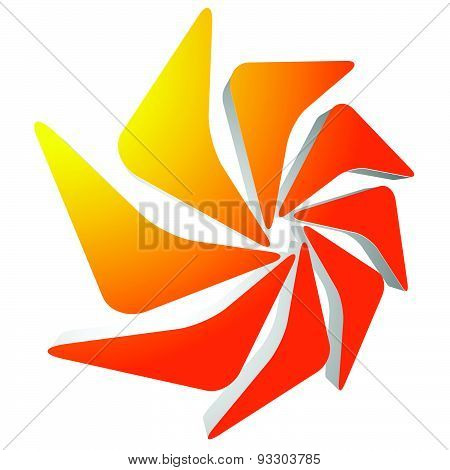 Abstract 3D Rotating Shape, Editable Vector Illustration.