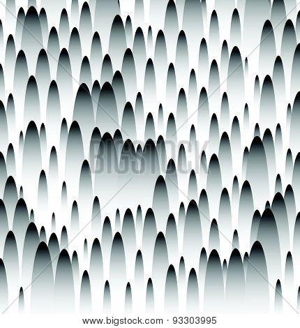 Abstract Grayscale Pattern. Bumpy Texture With Oval Shapes.