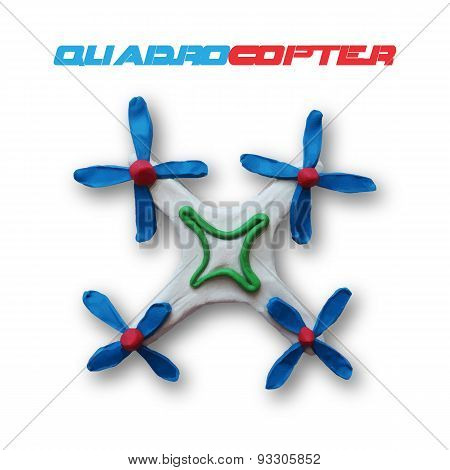 White quadrocopter