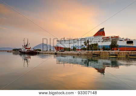Port in Patras.