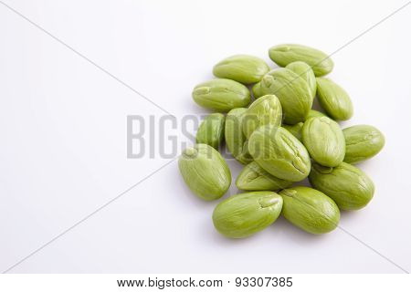 Group of parkia speciosa isolated on white background