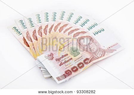 Thai money isolated on white background