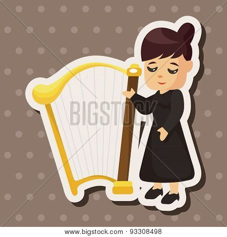 Character Musician Harpist Theme Elements