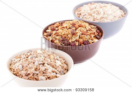 Muesli In The Bowls