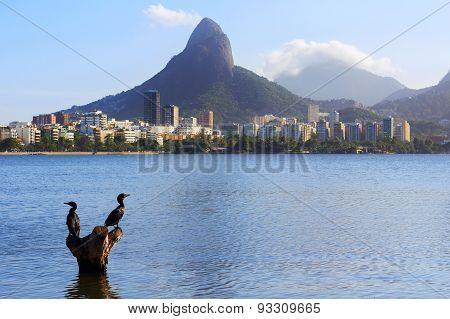 Lagoon Rodrigo De Freitas (lagoa), Rio De Janeiro