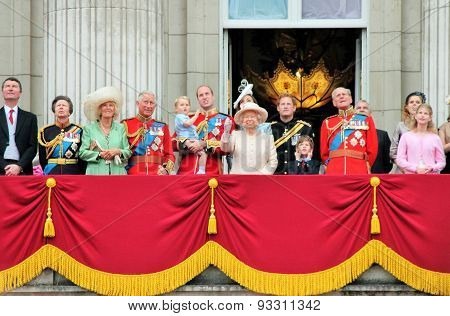 Trooping of the colour 2015 Royal Balcony