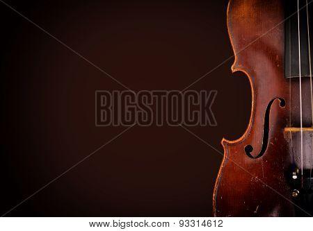 Old Wooden Violin