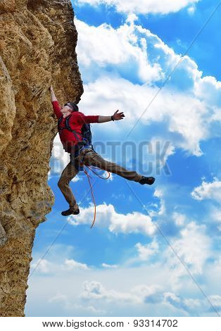 Climber  Fell From A Cliff