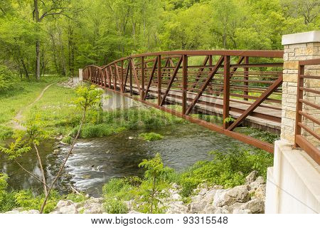 Footbridge Over River