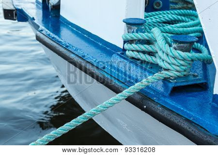 Iron Berth Holding White Boat Lines