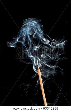 Burning Match With Smoke