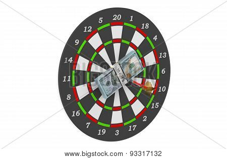 Darts And Dollars In Bull's-eye