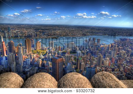 The east side of New York City in HDR