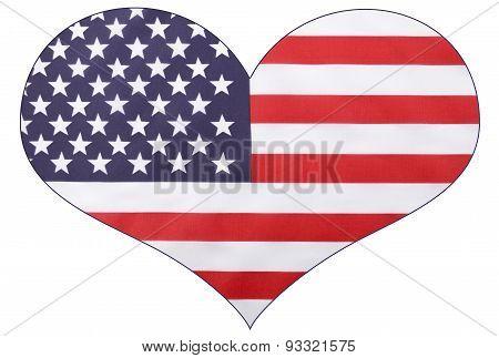 Heart Shape Usa Flag