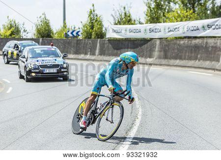 The Cyclist Michele Scarponi - Tour De France 2014