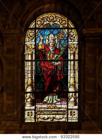 Pope Clement I, Saint And Martyr - Stained Glass