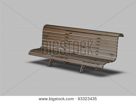 Street Bench From A Tree
