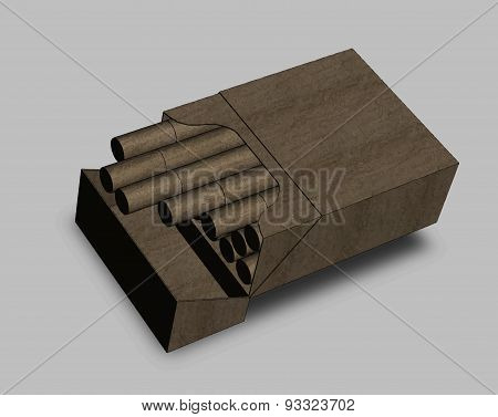 A Pack Of Cigarettes On A Grey Background