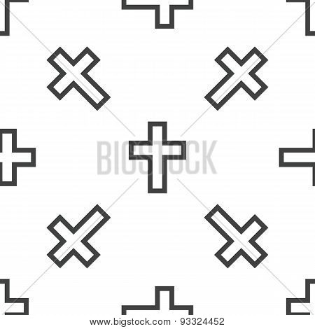 Christian cross pattern
