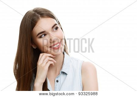 Portrait of a beautiful emotional girl posing