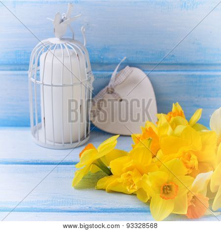 Narcissus, Candle And Heart