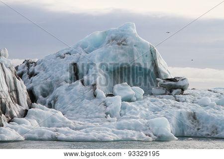 Close Up Of Large Iceberg In Lake Jokulsarlon