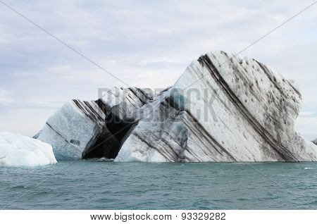 The black heart in an iceberg