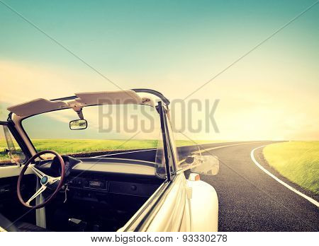 classic car Journeys in summer