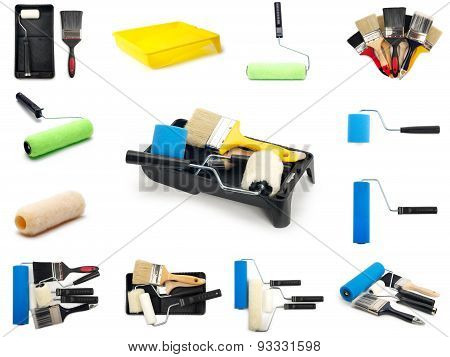 A Set Of Paint Tools Images