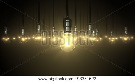 Light Bulb Swing Glow Rising