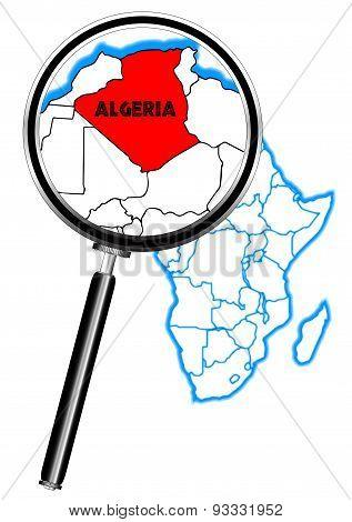 Algeria Magnifying Glass